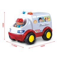 ambulance kids - 2015 New Coming Multifunctional Ambulance Shape Doctor Kit Toys for Kid Birthday Gift Plastic Material Pretend Play Medical Toy