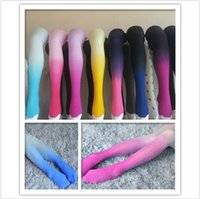 balle dancing - 10 TOPB4447 women fashion Stretch Velvet Tights Socks Stocking Gradient Color Pantyhose Balle dance wear stockings sock leggings leg warmers