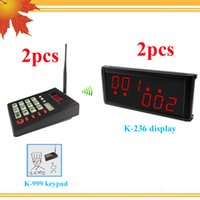 Wholesale Wireless queue system for fast food restaurant design with wireless numeric keyboard and wireless display receiver led calling system