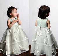 beautiful baby jewelry - 2015 hot princess organza flowers floor length ball gown jewelry decals baby beautiful female flower girl dress