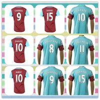Nuevo producto Tailandia West Ham Jarvis Kouyate Carroll Zarate Downing Soccer Jersey Estados 2015-2016 Rojo Azul Luz camisa ausente Inicio Jerseys