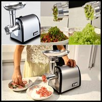 automatic vegetable chopper - household meat grinder electric meat slicer cutter stainless steel automatic sausage filler vegetable mincer chopper machine