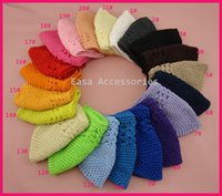 baby kufi hats - 10PCS Approx Size cm cm Assorted Colors Baby Size Infant Toddler Kids Crochet Kufi Hats Knitted Beanie Hat