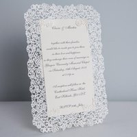 elegant wedding invitations - White Laser Cut Wedding Invitations Lace Wedding Invitation Cards Elegant Lace Party Invitations Set of
