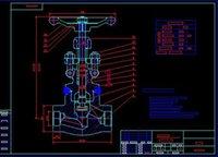 bar drawing machine - Soft sealing valve DN500 drawing dark bar drawings Full Machining drawings