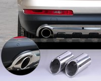 Wholesale 2X STAINLESS STEEL EXHAUST TAIL REAR MUFFLER TIP PIPE For AUDI Q7 CA00725