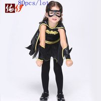 baby dressing up outfits - 80pcs Baby Halloween Cosplay Batman Dresses Kids Cartoon Dance Costume Children Toddler Christmas Outfits Make Up Sets With Masks