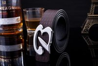 Wholesale 4 Colors Trendy Luxury Smooth Buckle Belt Men Casual Leather Waistband Fashion Letter B Buckle Belt Hot Sale