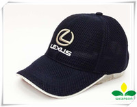 racing sports caps - baseball hat with inwrought Lexus Car Logo picture sunbonnet for F1 motor racing with air hole sport peaked cap