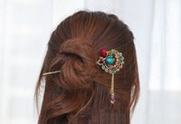 unique hair accessories - Unique Crystal Butterfly Hairpin for girls Classic Purl Hair Accessories Chinese Antique Elegant Hair Accessories Delicate Hair Decoration