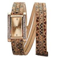 Unisex leopard watches - Luxury Diamond Leopard Watch Women Leather Wristwatches Bracelet Quartz Watches Lady Leopard Band Gorgeous Lady Girl