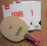 Wholesale Finished racket Butterfly AMULTART table tennis blade Dhs hurricane3 rubber butterfly tenergy rubber indoor sports