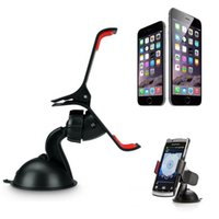 Wholesale Universal degree Car Windshield Mount Cell Mobile Phone Holder Bracket Stands for iPhone Plus Galaxy Note S4 S5