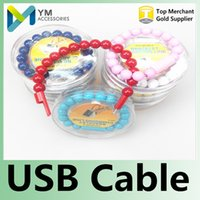 Cheap USB Cable Bracelet Charger Data Sync Charging Cable Lead Cord For Smartphone Mobile Phone