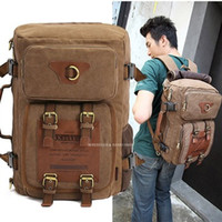 Wholesale MULTIFUNCTION KAUKKO men s canvas army style shoulder bag Travel tactical backpacks military ways_M212