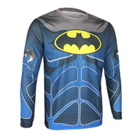 Wholesale 2015 New Arrival Winter Thermal Fleece Cycling Warm Shirts Long Sleeves Cycling Jerseys Super Hero s Bike Jackets Windproof Spider man New