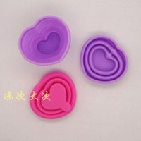 american appliance - American Standard FDA child heart shaped flowers pattern mini folding cup baking diy optionally install two appliances