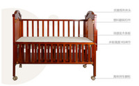 Wholesale Oh Bao baby crib wood bed with multifunction cradle send mosquito nets hp wooden bed crib