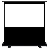 Wholesale Ground Business Matte White Portable inch Wide Cinema Projection Projector floor Screen with Stand