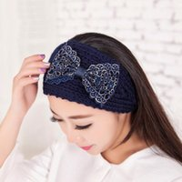 embroidery hoops - Han Guofa hoop Embroidery big bowknot Knitting wool hair band