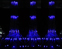 Wholesale 110V US V EU LED M Curtain Waterfall LED Light Party Wedding Water Flow Decoration Backdrop colors
