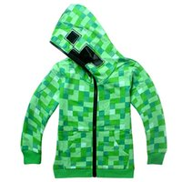 baby creepers - 120 cm choose size winter Creeper Hoodie MINECRAFT Zipper thick Coat Creeper jacket Sweater fashion christmas baby boy clothes