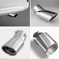 Wholesale Brand New Stainless Steel Drop Downstainless Car Vehicle Exhaust Tail Muffler Tip Pipe for Diesel Trim Lowest Price