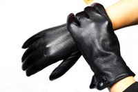 Wholesale Male deerskin gloves ride sheepskin genuine leather gloves faux thermal gloves autumn and winter