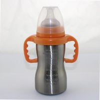 Wholesale Real New Mamadeira Chicco Baby Bottles Mother Wide Aperture for Nanometer Antibacterial Automatic Stainless steel Bottle