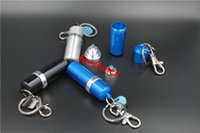 aluminium canisters - 50pcs epacket to USA Germany aluminium High quality oilcan mini fuel canister keychain lighter fluid for lighter Outdoor