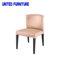 Wholesale 2014 New Modern Fabric with steel Dining Chair for Home Furniture Foshan stacking leather steel dining chairs