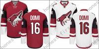 arizona free - Max Domi Jersey Authentic Arizona Coyotes Jersey Domi Ice Hockey Jerseys Cheap Garnet White Stitched