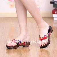 Wholesale Summer paulownia wedges slippers women s herringbone clogs wooden slippers clogs socks