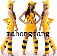 Babydolls & Chemises acrylic printing services - 2015 Valentine Sexy Furry Yellow Tiger Print Furry Halloween Costume Halloween Nightclub Clothing Fun game service uniforms temptation