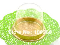 Wholesale 500Pcs Clear Plastic Single Individual Cupcake Muffin Dome Holders Cases Boxes Cups Pods box Gift Package
