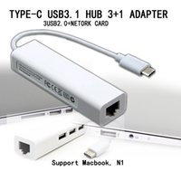 Wholesale 2015 new type c IN adapter USB HUB ports USB2 external RJ45 gigabit network card for macbook n1