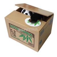 money box - 2015 New ME Convenient Lovely Stealing Coins Panda Cent Penny Saving Money Box Pot Case Piggy Bank EM