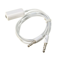 audio jack splitter flat - 77 cm mm Female to Male mm Jack Headphone Mic Cable Audio Y Splitter Flat Stereo Adapter Cable Cord