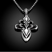 arts cross pendant - Men s foreign trade retro art cross pendant necklace GMYN036