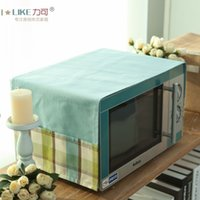 Wholesale New Microwave cover cloth dust Covers oven refrigerator coffee table Gaibu Bu Yi Mediterranean grid