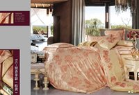 bamboo bedroom sets - Wedding hotel orange bed set luxury Bamboo fiber silk cotton bedding set duvet covers queen size bed linen bedroom sets