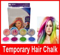 Wholesale colors Temporary Hair Chalk Tiza Del Pelo Hot Pink Blue Fuchsia Neon Green No Retail Box Beauty Hair Hair Styling