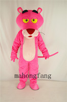 Mascot Costumes animal music games - NEW pink panther mascot costume game fancy dress Christmas party adult size cartoon costume Factory direct sale