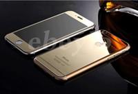 Pour l'iPhone 6 Coloré Verre Trempé protecteur d'Écran de Miroir Coloré Avant et Arrière en Verre Film Pour Iphone 6 plus Apple 5