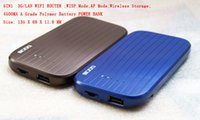 Wholesale 5IN1 MINI PROTABLE G WLAN WIFI ROUTER WISP AP WIRELESS STORAGE MA A GRADE POLYMER BATTERY POWER BANK MIFI