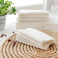 Wholesale 2015 Popular Bamboo Fiber Kitchen Dish Wash Cloth Towel Rags White