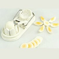 Wholesale Freeshipping pieces Two in one Cut Egg Fancy Cut Egg Slicer Egg Tools