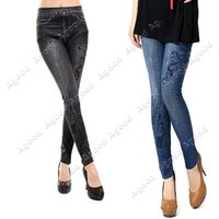 stretch jeans - 2015 Fashion Women s musical note Pattern Ladies Casual Tights Stretch Skinny Pants Jeans Legging Colors