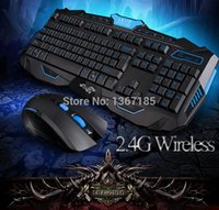 Wholesale 2014 New G Wireless Keyboard and Mouse Combos Special Computer Accesories Gaming Gamer Laser USB With Teclado GamerBlack