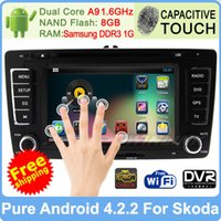 dual cd player - car dvd Dual Core GHz Pure Android Car PC GPS Navi CD Player DVD For Skoda Octavia Built in WIFI DVR